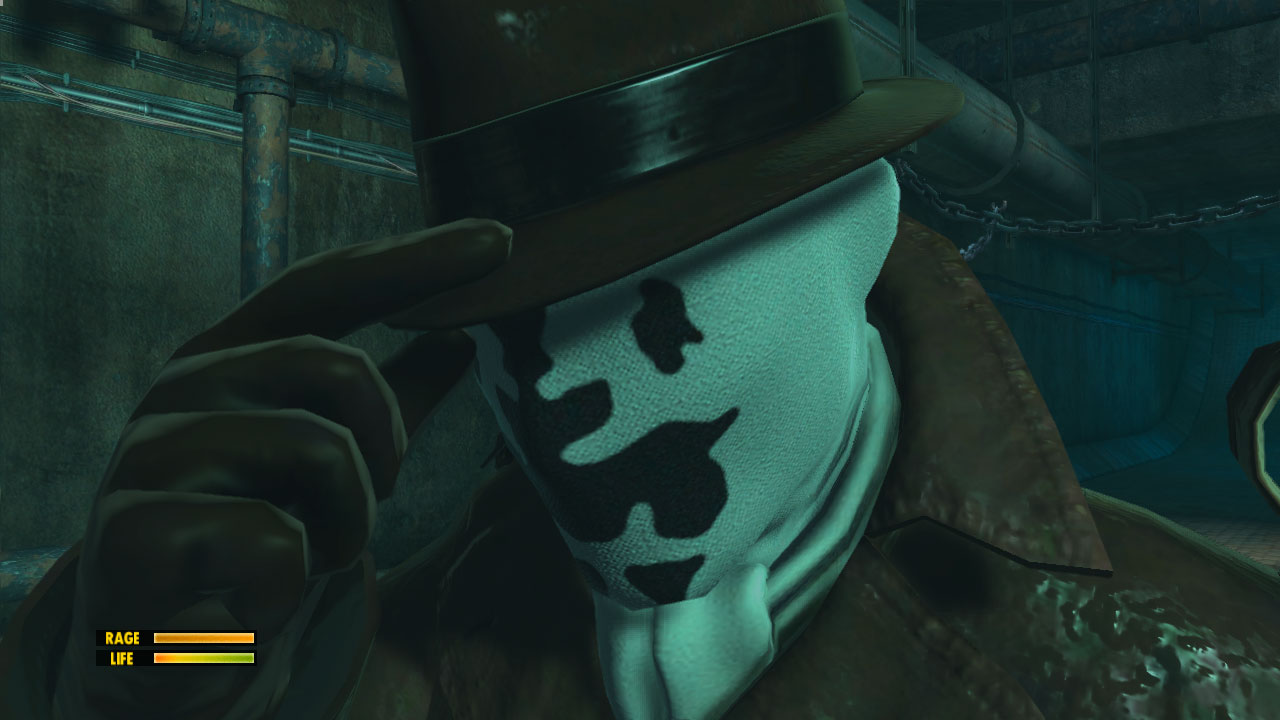Watchmen screenshot - Rorschach