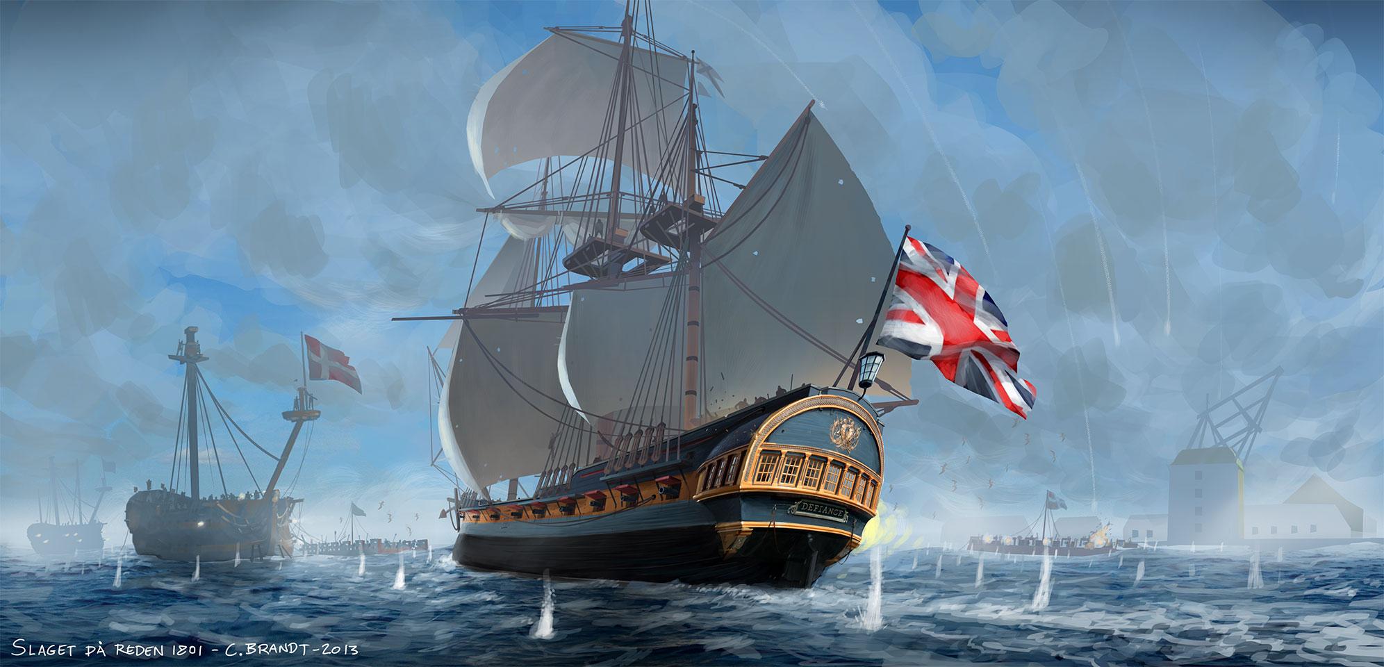 The Battle of Copenhagen 1801. Photoshop painting. Carsten Brandt 2013