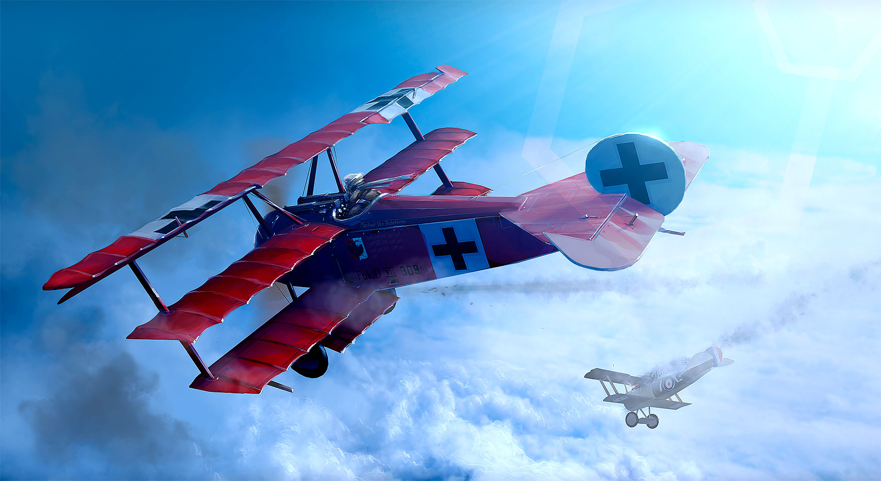 The Red Baron - Manfred von Richthoven in Fokker-D1